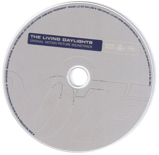 The Living Daylights - Sountrack - CD - disc